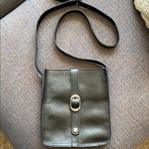 Black leather Patricia Nash crossbody